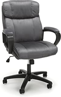 OFM Essentials Collection Plush Microfiber Office Chair, in Gray (ESS-3082-GRY)