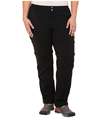Columbia Plus Size Saturday Trailtm II Convertible Pant (Black) Women
