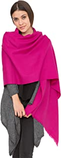 likemary Damen Schal Schultertuch aus 100% Merino Wolle - Poncho Stola XXL Tuch & Umschlagtuch - ideales Geschenk für Frauen - Kasa 75 x 200 cm