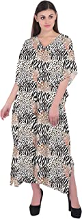 RADANYA Animal Printed Cotton Kaftan Swimwear Swimsuit Beachwear Bikini Coverup Caftan Dress