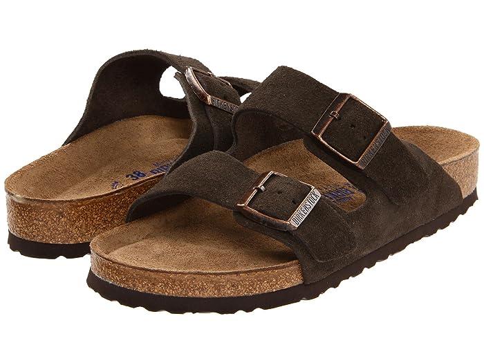 Vintage Sandals | Wedges, Espadrilles – 30s, 40s, 50s, 60s, 70s Birkenstock Arizona Soft Footbed - Suede Unisex Mocha Suede Sandals $135.00 AT vintagedancer.com
