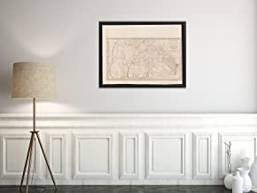 1800 Map Georgia Georgia, from The Latest Authorities Relief Shown pictorially. Prime meridians: Phi Vintage Fine Art Reproduction Ready to Frame
