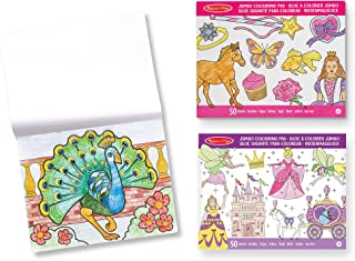 Melissa & Doug Bundle of 3 Jumbo Colouring Pads - Princess & Fairy, Animals and Pink | Activity Pad | Colouring Pad | 3+ |...