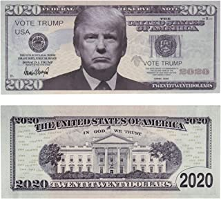 2020 True Face of Donald Trump Re-Election Commemorative Presidential Dollar Bill - 100 Pack Limited Edition Novelty Money...