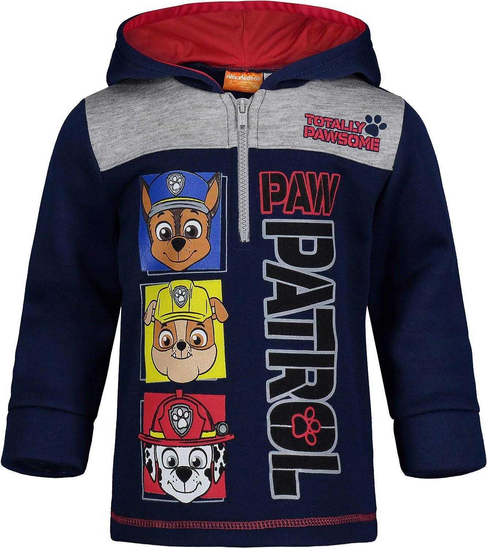 Paw Patrol Fleece Half-Zip Pullover Long Sleeve Hoodie: Clothing, Shoes & Jewelry