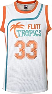 MOLPE Moon 33Flint Tropics Basketball Jersey S-XXXL White, 90S Hip Hop Clothing for Party, Stitched Letters and Numbers