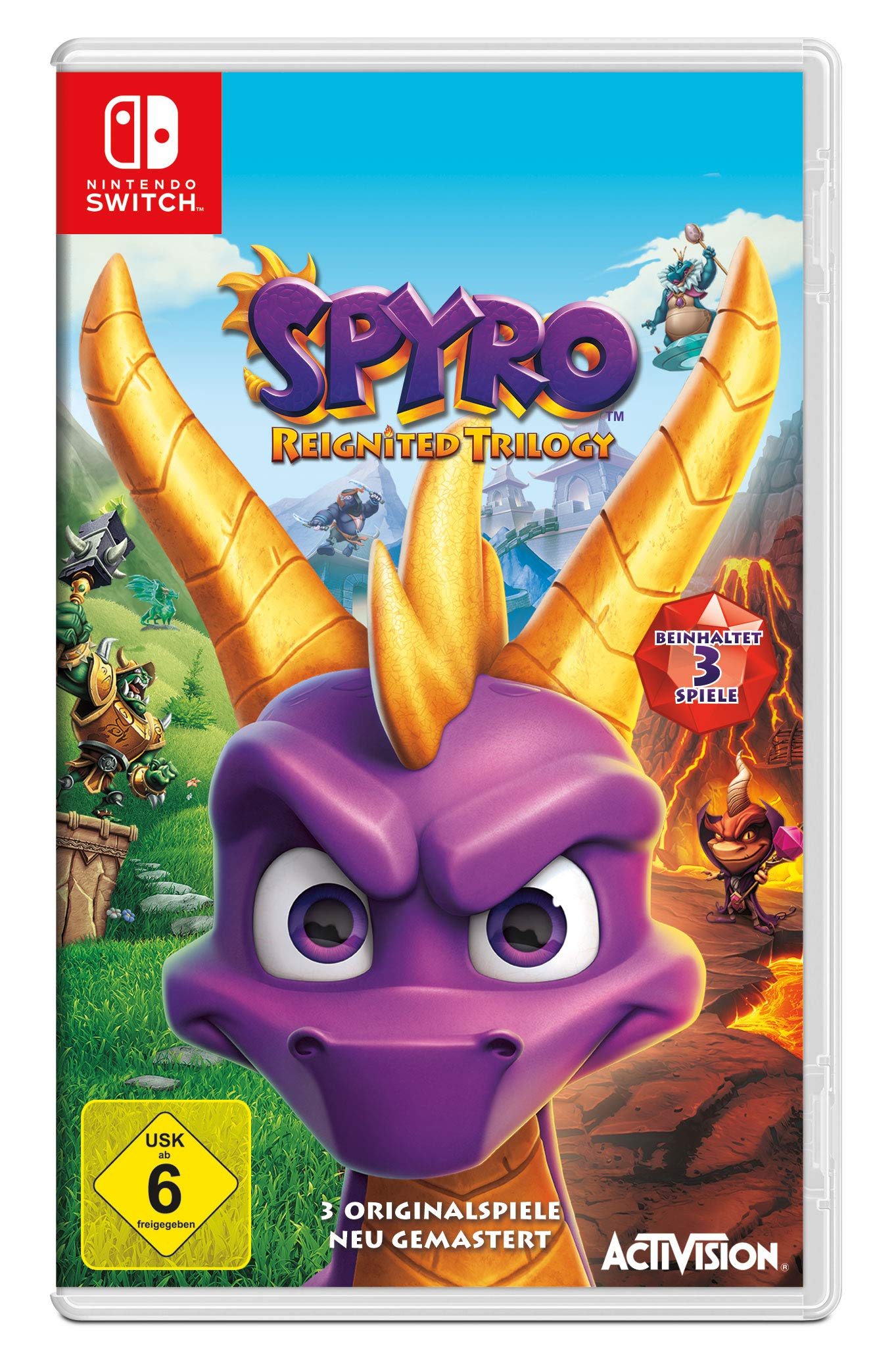 Spyro Reignited Trilogy - [Nintendo Switch] [Importacion Alemania ...