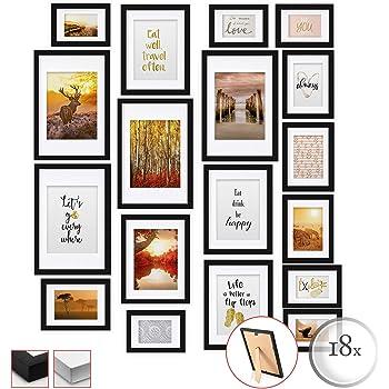 Cornice foto multipla per Collage bomoe Set di 30 Cornici per foto Emotion Per foto in diverse dimensioni Bianco cornici in legno da parete 10x 10,5x15cm // 15x 13x18cm // 5x 20x30cm