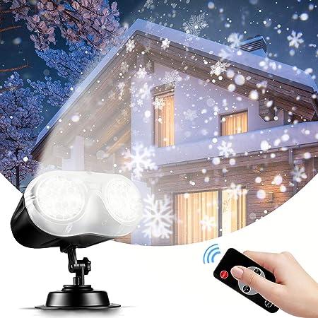 DEL Snowfall projecteur lumière Noël projection intérieur//extérieur minuteur Project