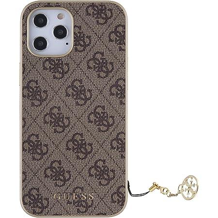 Guess 4G Charms Hard Case Hülle für Apple iPhone 12/12 Pro (6.1) - Braun