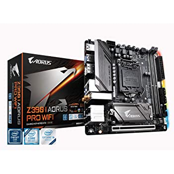 GIGABYTE Z390 I AORUS PRO WiFi (Intel LGA1151/Z390/Mini-Itx/M.2/Realtek ALC1220-Vb/Intel GbE LAN/HDMI/Gaming Motherboard)