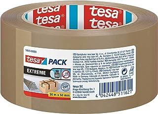 tesa Pak Extreme, premium pakketband, bijzonder klevend en scheurvast, ideaal voor het verpakken en bundelen van zware pak...