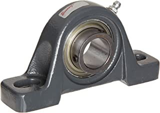 Browning VPS-112 Pillow Block Ball Bearing, 2 Bolt, Setscrew Lock, Contact and Flinger Seal, Cast Iron, Inch, 3/4