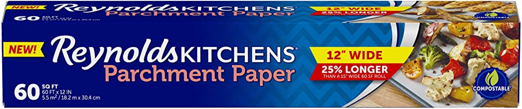 Reynolds Kitchens Non-Stick Parchment Paper - Amazon Exclusive 12 inch - 60 Square Feet