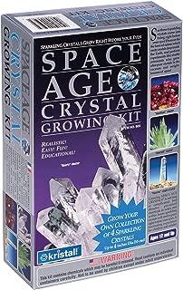 Space Age Crystal Growing Kit: 4 Crystals (Quartz, Emerald, Amethyst)