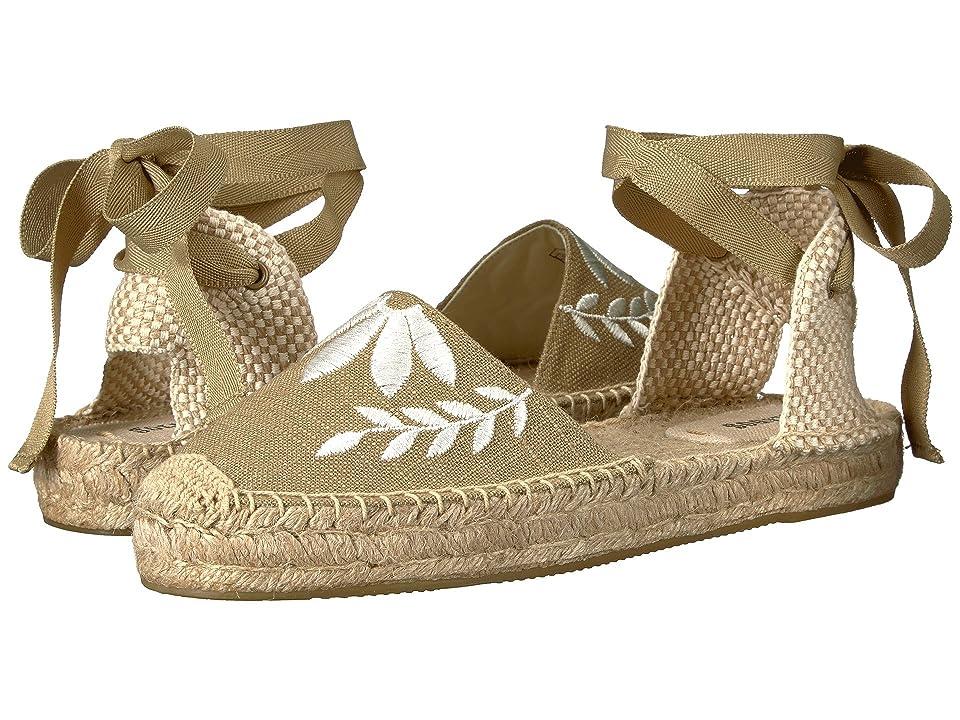 Soludos Embroidered Floral Sandal (Khaki) Women
