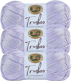 (3 Pack) Lion Brand Yarn Truboo Yarn, Lilac