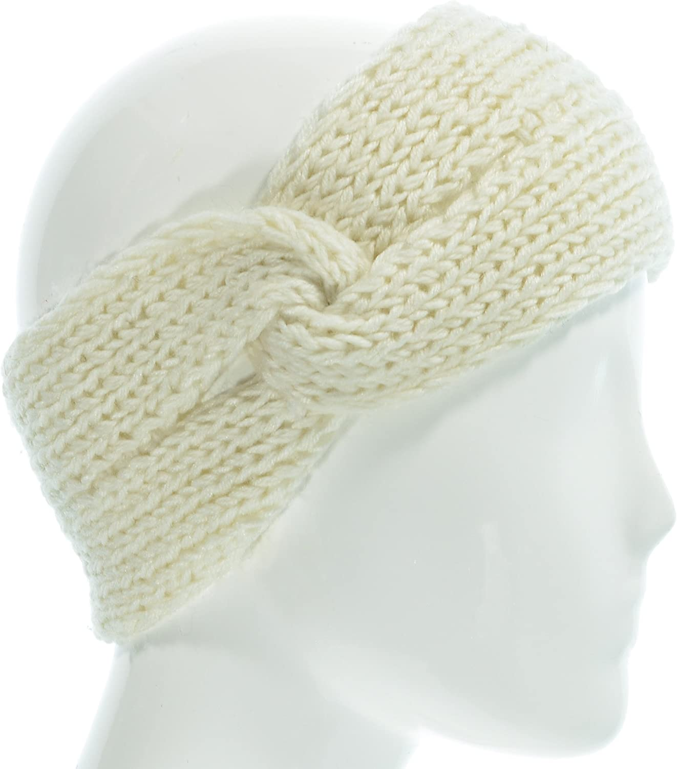 Hand By Hand Solid Knot Knitted Headband Twist Cozy Headwrap Chic Stylish