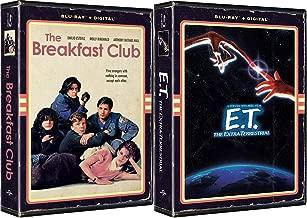 Iconic portrait 1980s Tape Retro VHS 80's Alien Stephen Spielberg E.T. Exclusive Special Movie & Breakfast Club John Hughs (VHS Artwork) (Blu-Ray) Double Feature Set
