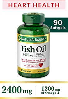 Nature's Bounty Fish Oil 2400 mg Softgels, 90 count