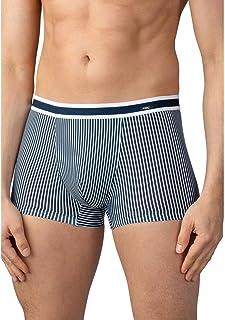 Mey Men 33421-668 Men's Stripe Yacht Blue Cotton Fitted Boxer