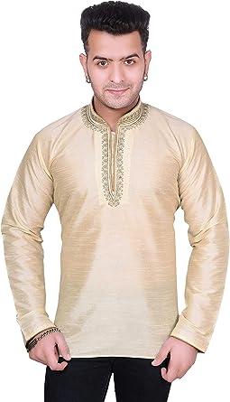 Desi Sarees Hombres Camisa de Cuello Estilo Nehru túnica 2020 ...