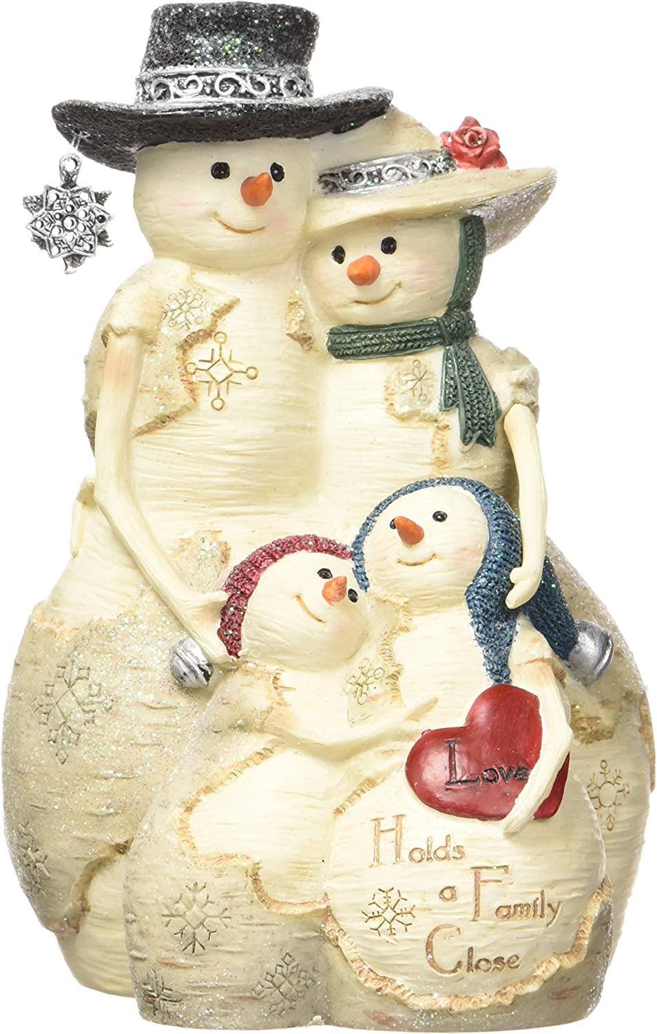 Pavilion Gift Company BirchHeart 5-Inch Max 40% OFF Family Tall Snowman Direct sale of manufacturer Rea