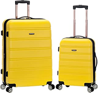 Rockland Melbourne Hardside Expandable Spinner Wheel Luggage, Yellow, 2-Piece Set (20/28)