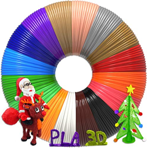 3D Pen Filament 320 Feet, 16 Colors,Each Color 20 Feet, Bonus 250 Stencils eBooks - 3D Printing Pen PLA Filament 1.75...