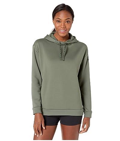 Nike Therma All Time Ribbon Drawcord Pullover Hoodie (Juniper Fog/Black) Women