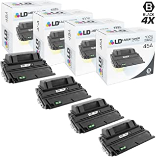LD Compatible Toner Cartridge Replacement for HP 45A Q5945A (Black, 4-Pack)