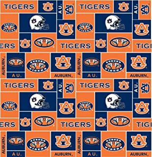 Auburn University Tigers Fleece Fabric - 60