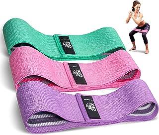 CFX Bandas Elasticas, Juego de 3 Bandas Elásticas Musculacion para Fitness con 3 Niveles, Resistencia Antideslizante para ...