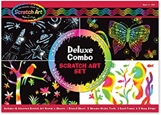 Melissa & Doug Scratch Art Deluxe Combo Set (Arts & Crafts, Hides Colors & Patterns, Easy to Use, Supplies for 16 Projects...