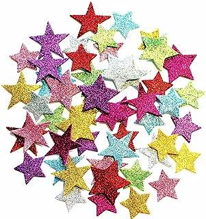 Minibaby EVA Glitter Foam Stickers,Stars,Self Adhesive Foam Shapes Craft Star Sticker Random Color 100pcs