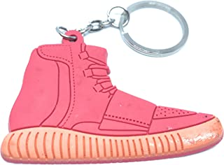 WetheFounders Yeezy Originals Red Orange Boost Flat 2-D Keychain Shoe