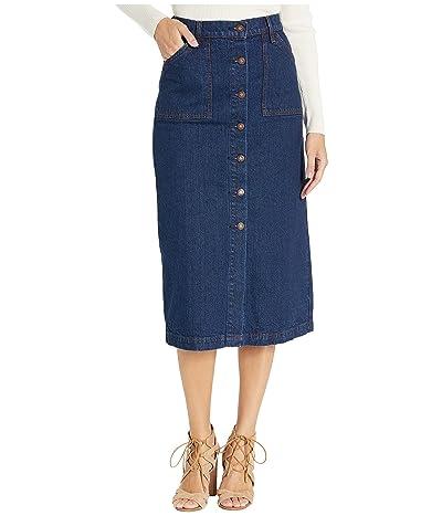 Lucky Brand High-Rise Button Front Skirt (Livingston) Women