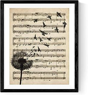 Nacnic Imprimer Le Score de Pissenlit. Affiche avec des Images de Naturaleza.Lámina au Cadre A Propos de Score. décoration...