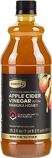 Comvita Apple Cider Vinegar with UMF 5+ Manuka Honey I Cold Pressed, Non-GMO Honeycrisp Apples from New Zealand I Unfiltered, Unpasteurized I 25.3 oz (50 servingsper Bottle)
