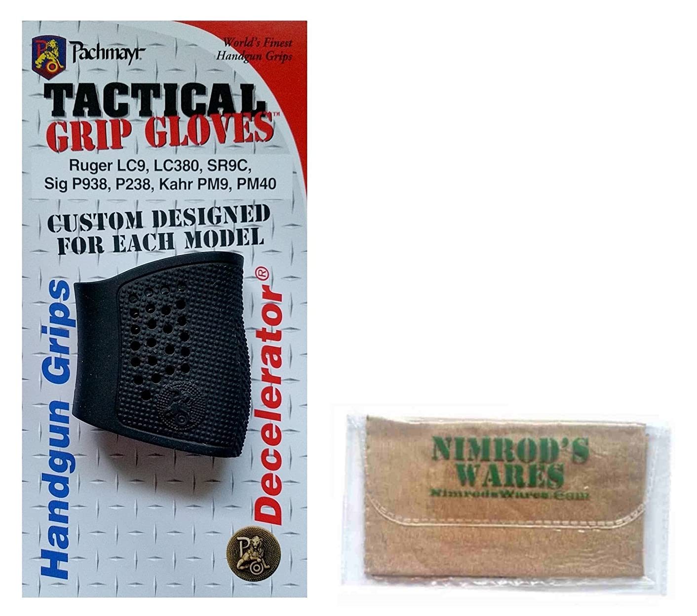 Nimrod's Wares Pachmayr Tactical Grip Glove Sleeve for Sig Sauer P238 Microfiber Cloth