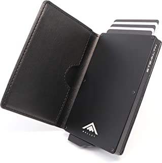 STEALTH Wallet RFID Card Holder - Minimalist NFC Blocking Pop Up Wallets with Gift Box - Slim Lightweight Credit Cards Hol...