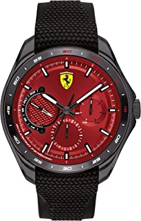 Ferrari Unisex-Adult Quartz Watch, Analog Display and Silicone Strap 830682