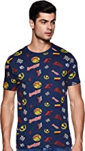 People Men's Printed Regular Fit T-Shirt