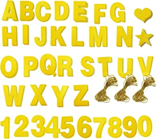 Blue Panda DIY Letter Banner and Gold Glitter Numbers Set for Party Decorations, Includes 121 Pieces