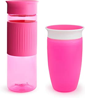 Munchkin Miracle 360 Hydration Set, 2 Pack, 24 Ounce and 10 Ounce, Pink