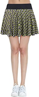 HonourTraining Women's Built-in Shorts Skirts Fitness Pleated Skirts Active Running Tennis Golf Lightweight Skorts
