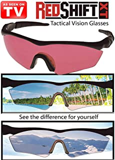 Unisex Precision Vision UV-Blocking Sunglasses Red Shift Tactical Vision Glasses - Ultra lightweight RED SHIFT XT Infrared...