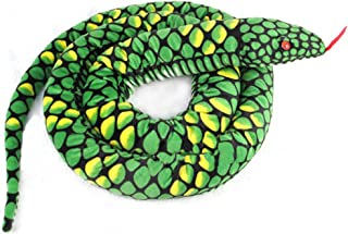 Lazada Plush Toy Snake Stuffed Animal Giant Boa Anaconda Plush Lifelike Toys for Kids Green 67 Inches