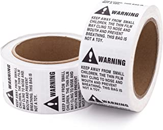 Suffocation Warning Labels, 1,000 Labels, 2 Rolls (500 Per Roll), 2