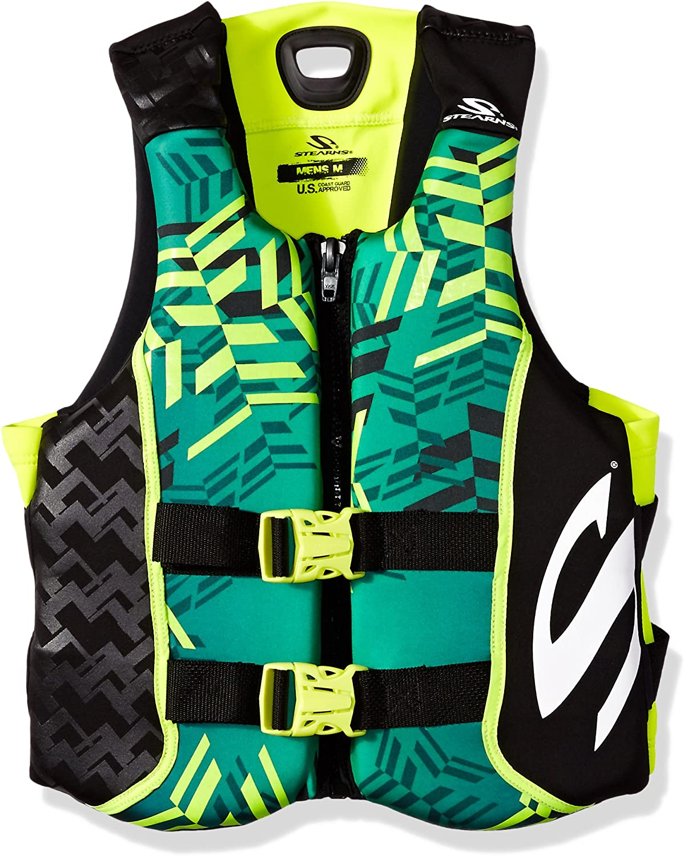 Stearns Men's V1 Series Hydroprene Life Jacket, Green Yellow, Large